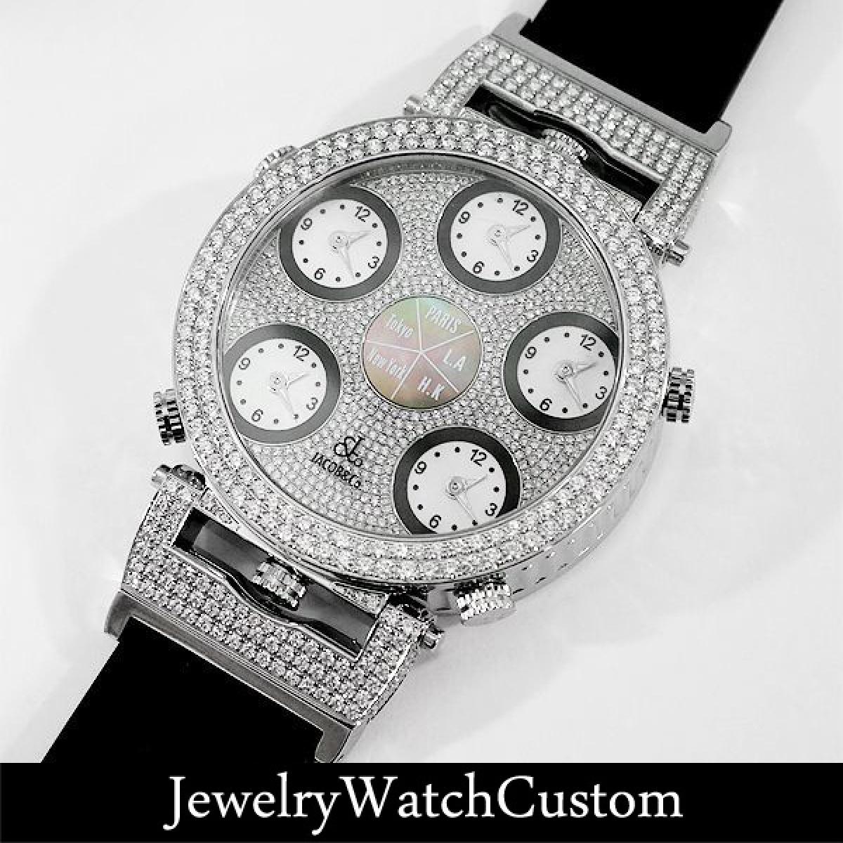 画像3: JACOB&Co. 6タイムゾーン ポケットウォッチ アフターフルダイヤモンド