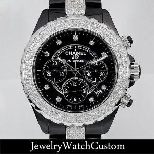 CHANEL J12クロノグラフ 9Pダイヤ アフターダイヤ