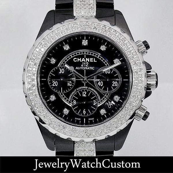 画像1: CHANEL J12クロノグラフ 9Pダイヤ アフターダイヤ